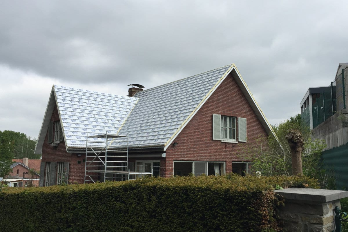 na isoleren dak langs buiten